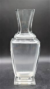 Large Signed Baccarat Crystal Vase
