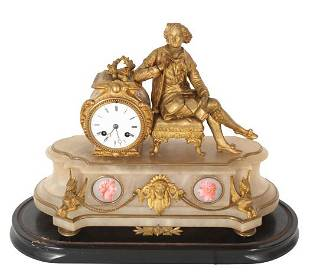 Antique French Figural Mantle Clock