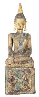 Hindu Tara Polychrome Wooden Figure