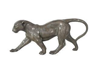 Bugatti Signed Bronze Jaguar Sculpture