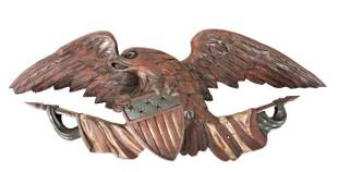 American Folk Art Carved Wood Eagle