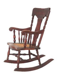 Antique Spindle Back Child's Rocking Chair
