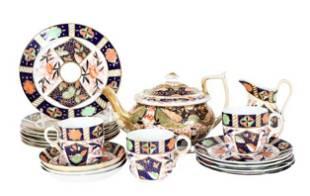 (19)Pc English Imari Porcelain Tea Service