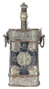 Engraved Tibetan Canteen Flask