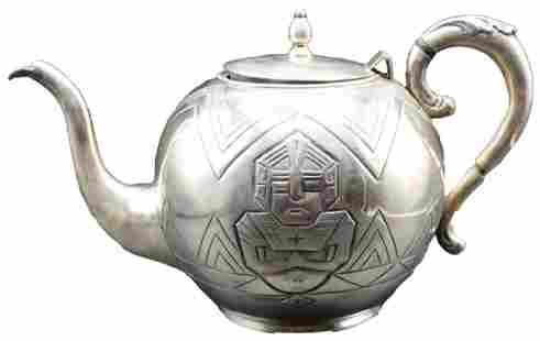 """Central American """"905"""" Silver Teapot 30 OZT"""