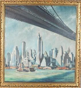 Eric Sloane (1905-1985) American, Oil on Board