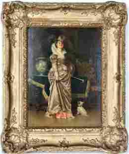 Francesco Vinea (1845 - 1902) Oil on Panel