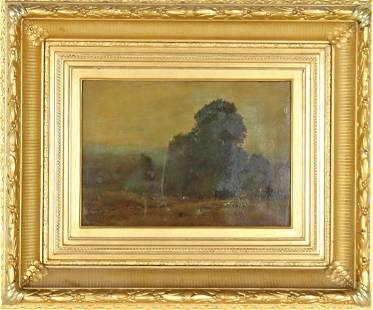 """George Inness Jr.(1854-1926) """"Mont Clair"""" O/C"""