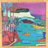 Arie Smit (1916-2016) Balinese, Acrylic on Canvas