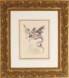 Salvador Dali (1904-1989) France/Spain, Woodcut