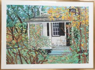 Front Porch in Nature, Oil Pastel