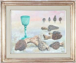 Olga Costa (1913-1994) Mexican, Oil on Masonite