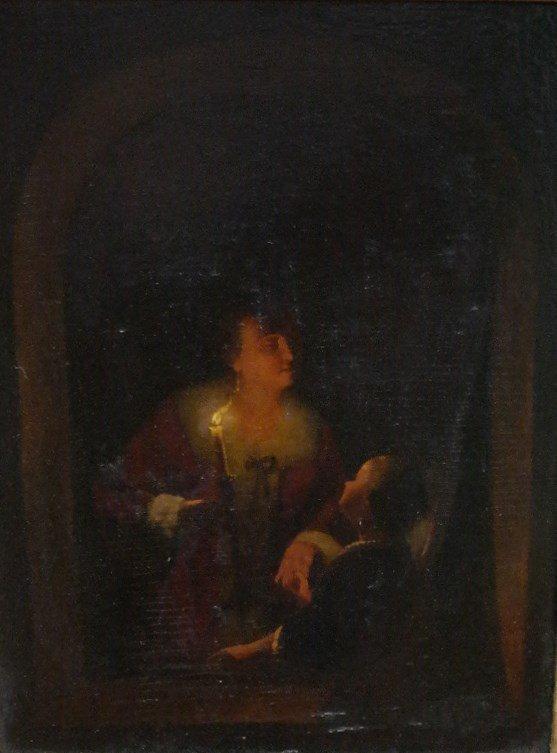 "Signed Dutch Artist Johannes Rosierse ""Candlelight"""