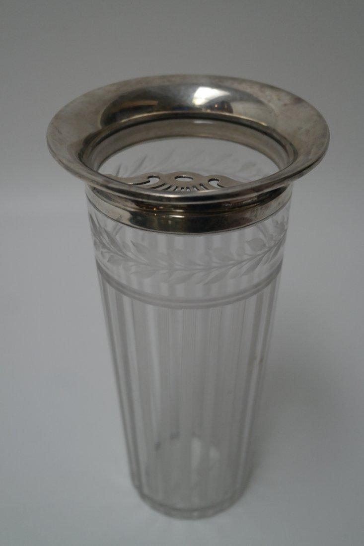 Art Deco Sterling Silver/cut glass Martini pitcher