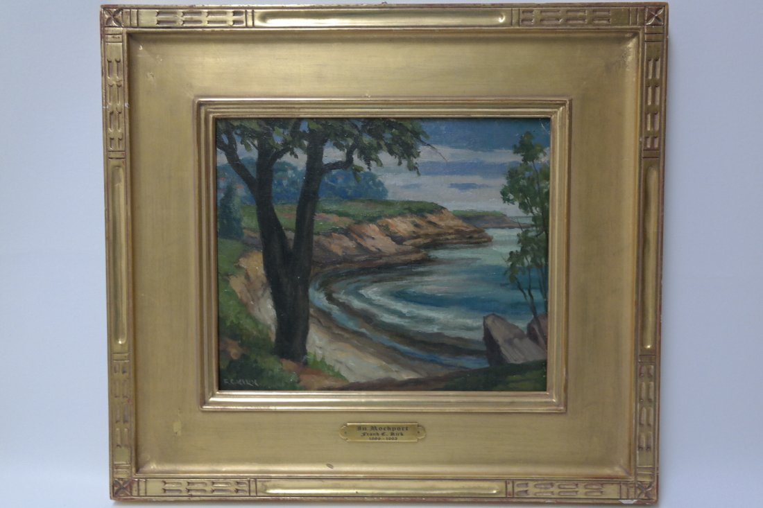 "20th century New York artist Frank C Kirk ""In Rockport"""
