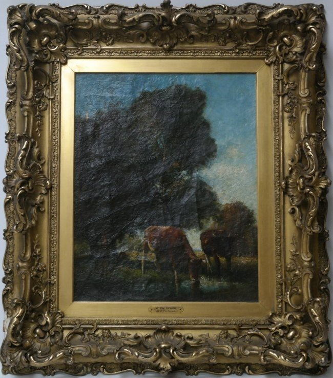 """Dutch Bertus Pietersz(1869 - 1938) """"At the Brook"""""""