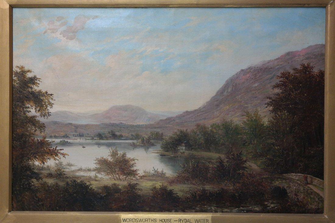 19th Century William Stone Oil on Canvas Landscape