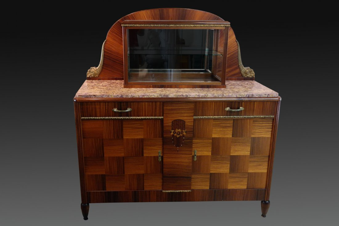 French Inlaid Art Deco Credenza