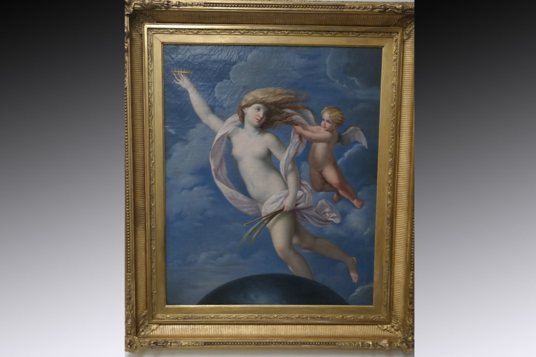 R. Menchetti (Italian 19th Century) Classical Scene