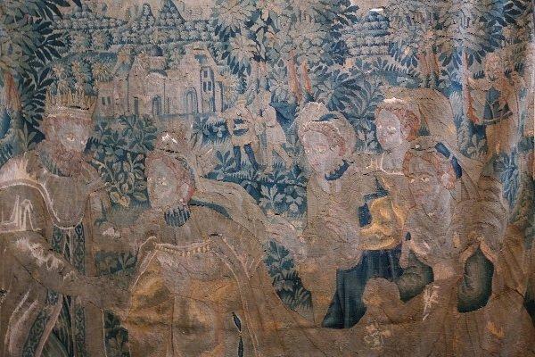 17th C. Flemish Tapestry 'King Solomon'