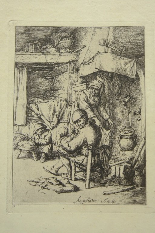 Dutch 17th Century  Van Ostade Etching