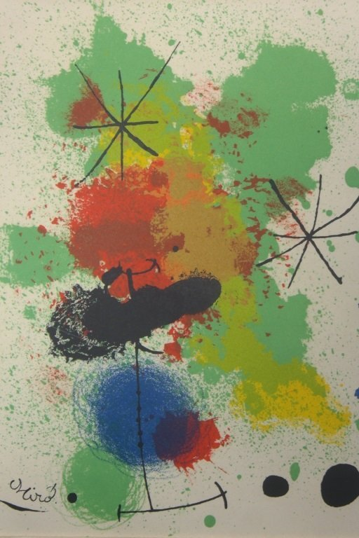 Abstract Lithograph  Paper by Joan Miro