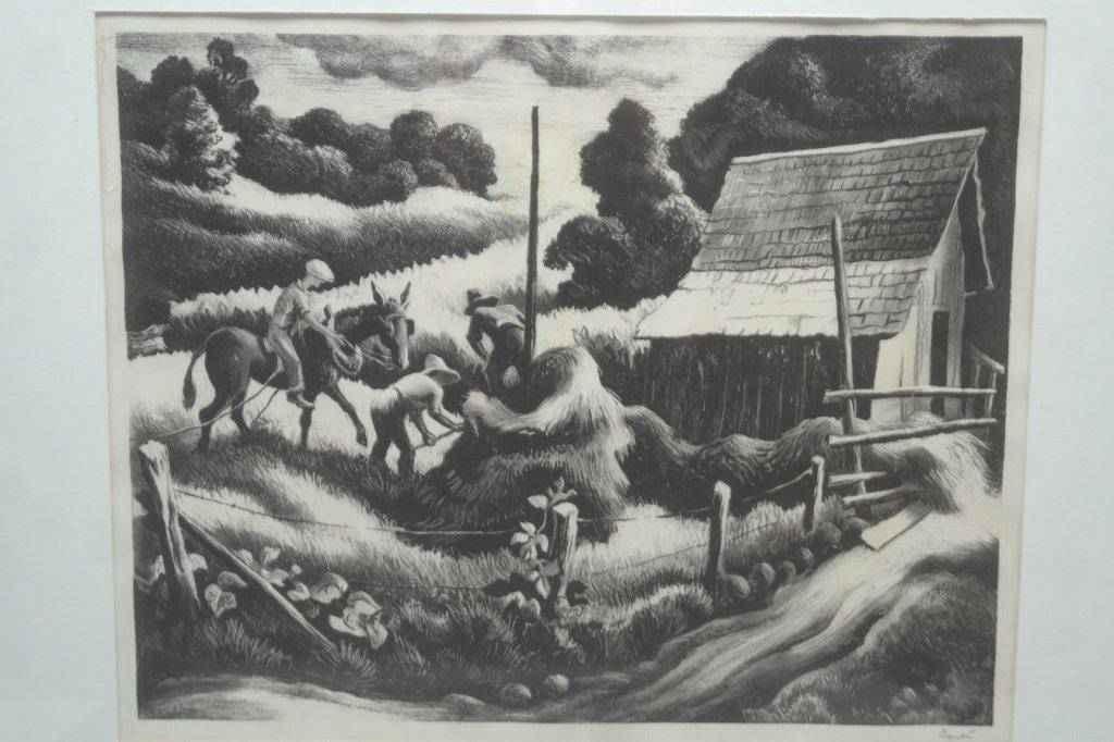 Thomas Hart Benton (1889-1973) Etching