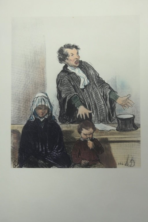 Lithograph by Honore Daumier (1808-1879)