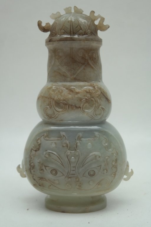 Antique Chinese Ming Dynasty Carved Jade Vase