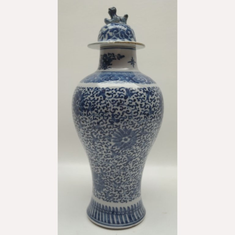 18th Century Blue & White Qianlong Vase