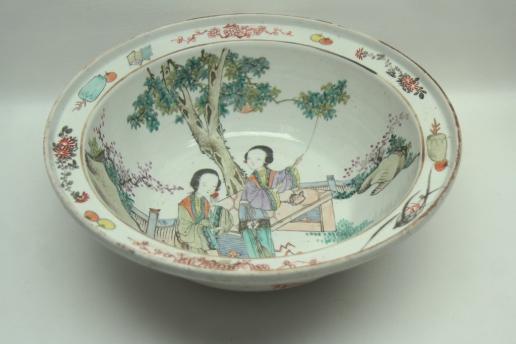 19th C Chinese Famille Center Bowl