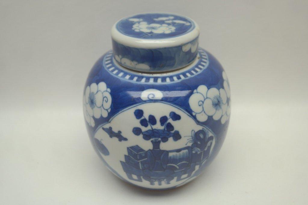 17th C. Blue & White K'ang Hsi Dyn. Ginger Jar