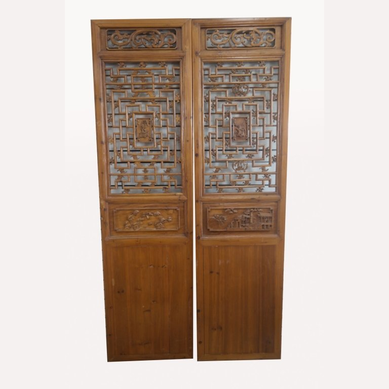 Antique Asian Carved Screens