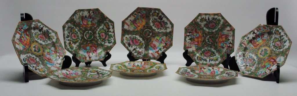 Antique Rose Medallion Dessert Plates