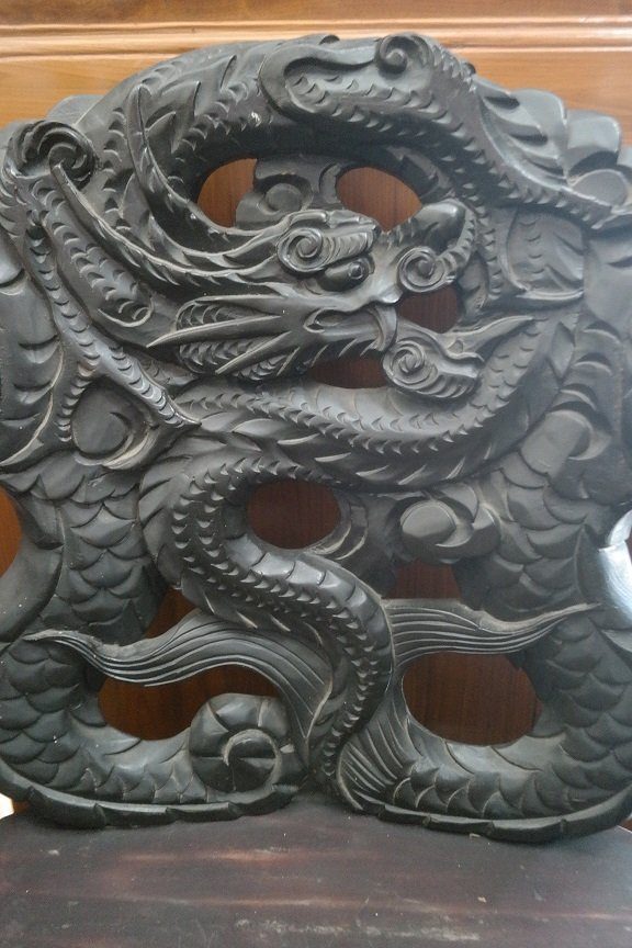 Antique Carved Dragon Chairs - 3