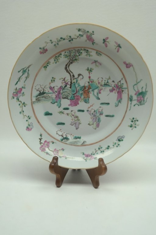 18th C. Chinese Famille Porcelain Plate