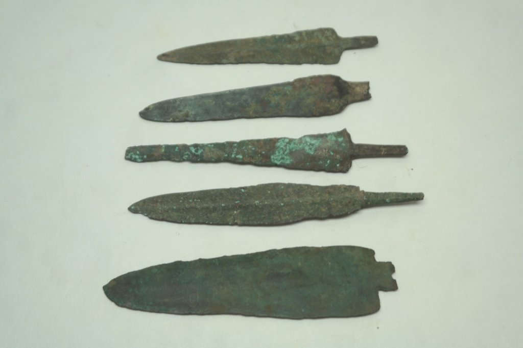 Ancient Greco-Roman Bronze Spear Heads