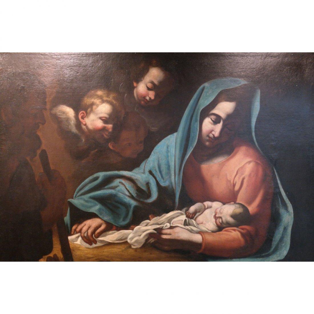 "17th C Italian "" Adoration of Shepherds"""