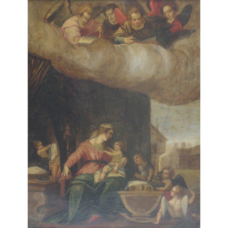 Attributed Sassoferrato Religious Painting
