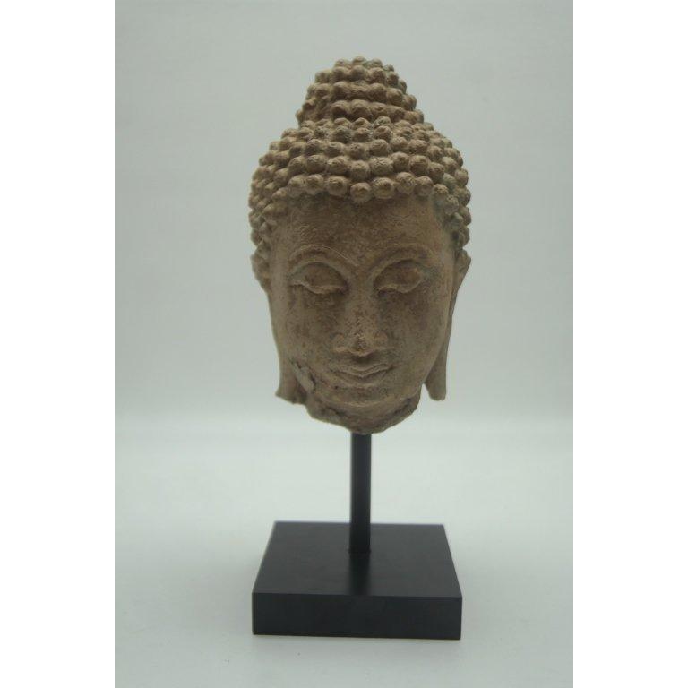 15th/16th C. Carved Cambodian Buddha Head