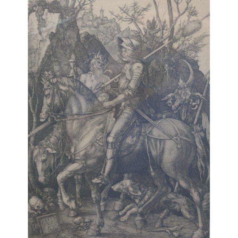 """Albrecht Durer Engraving """"Knight on Horseback"""""""