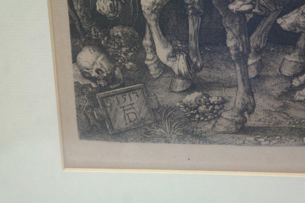 """Albrecht Durer Engraving """"Knight on Horseback"""" - 2"""