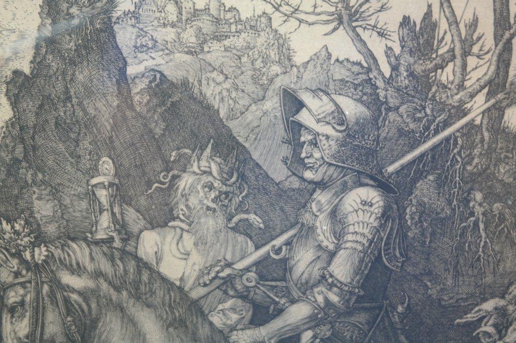 """Albrecht Durer Engraving """"Knight on Horseback"""" - 3"""