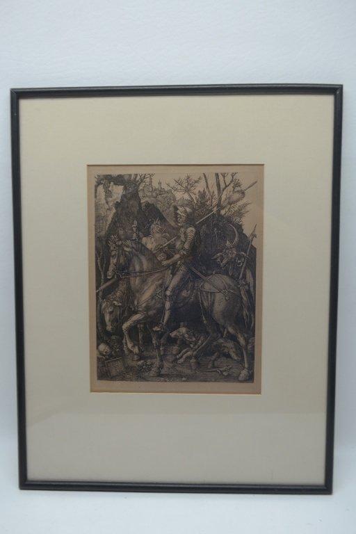 """Albrecht Durer Engraving """"Knight on Horseback"""" - 4"""