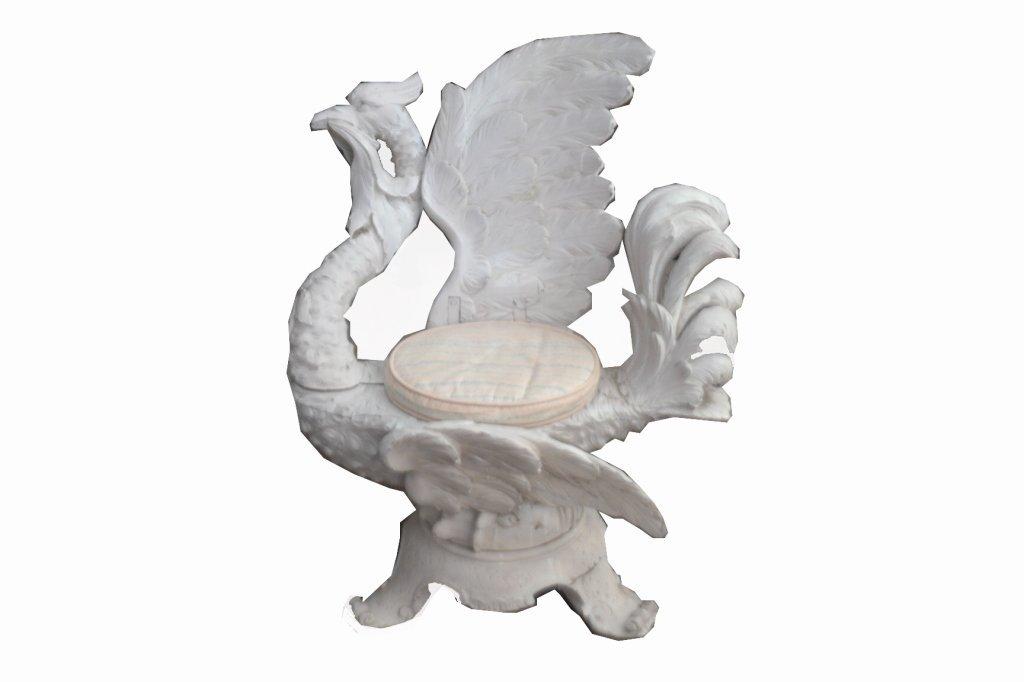 19th C. Italian Carved Fantasy Chair