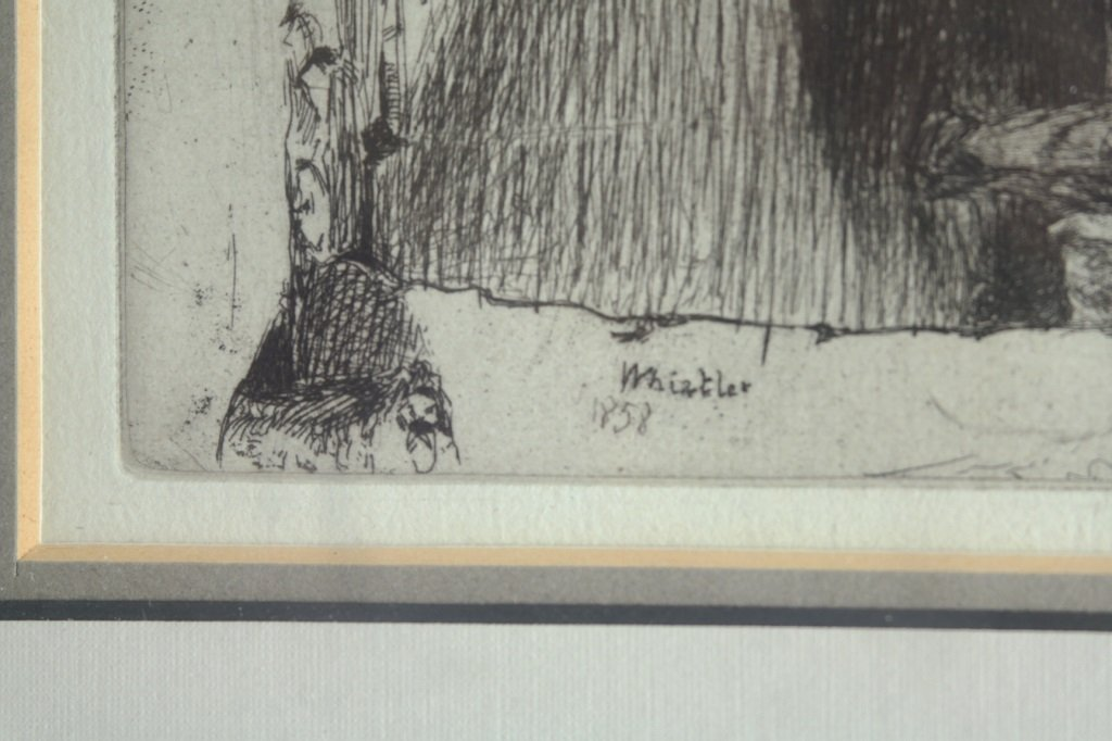 "James Whistler ""Little Rag Gatherers""  Etching - 2"