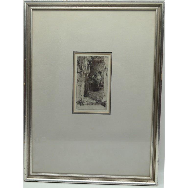 "James Whistler ""Little Rag Gatherers""  Etching - 3"