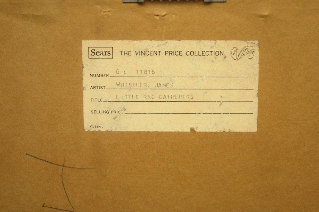 "James Whistler ""Little Rag Gatherers""  Etching - 5"