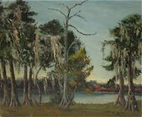 Florida Scene Signed Mildred Raible