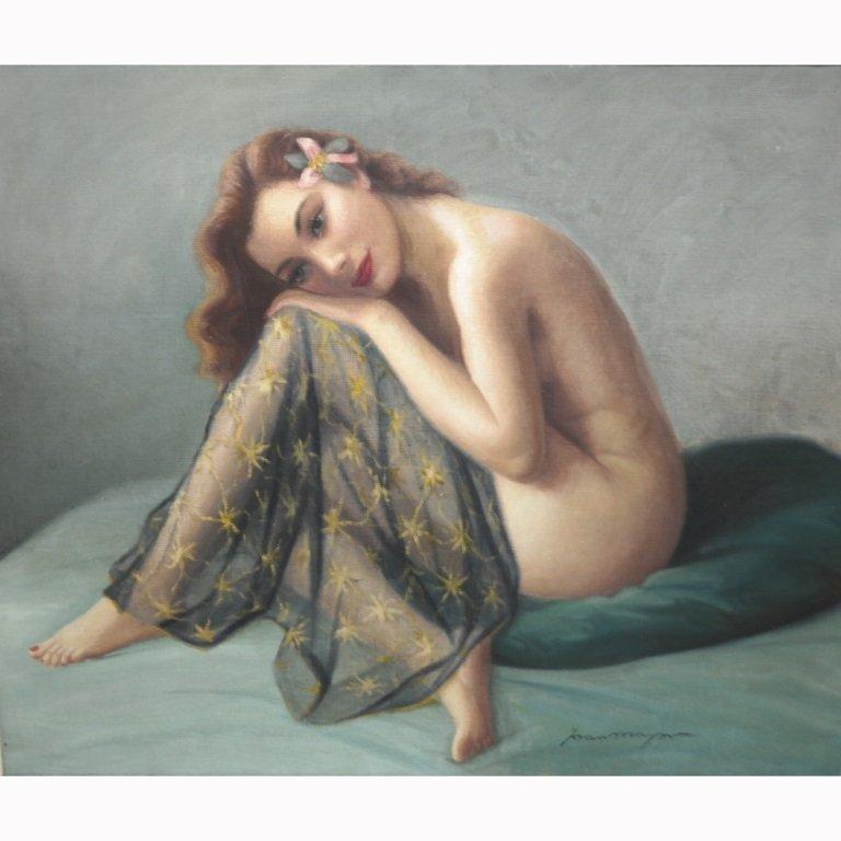 20th C. Female Nude Signed Joan Mayor